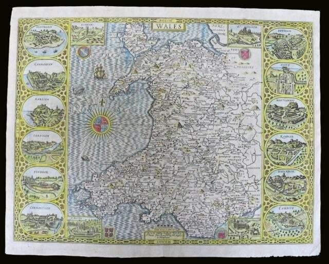 John Speed Map of Wales