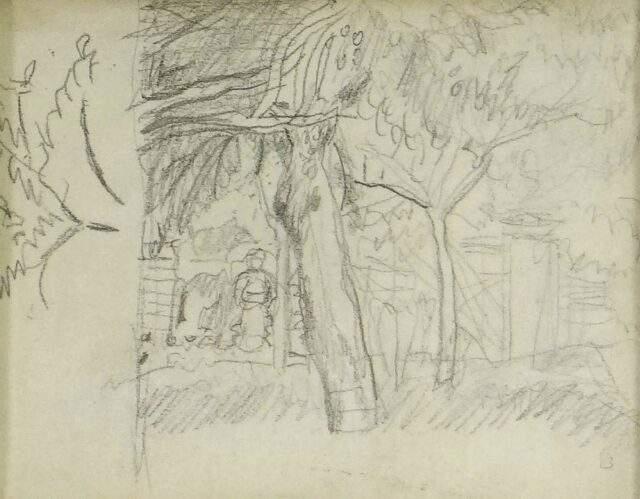 Pierre Bonnard Pencil Drawing