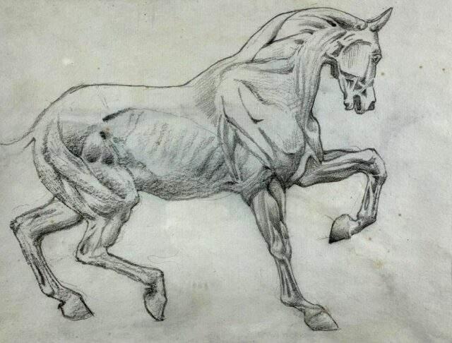 Sir Edward Coley Burne Jones Pencil Chalk