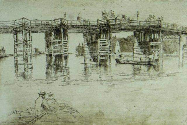 James Abbot Mcneil Whistler Etching 1200