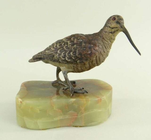 Austrain Bronze Figure of a Woodcock