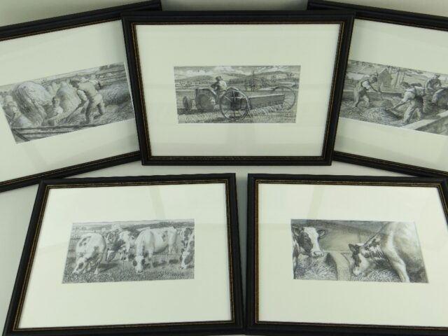 Charles Frederick Tunnicliffe OBE RA Set of Five Pencil Illustrations