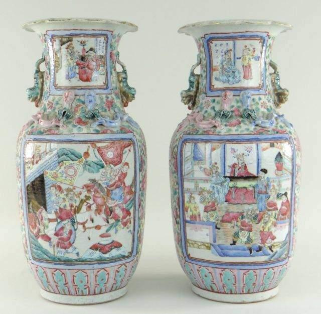Famille-rose vases