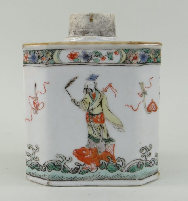Chinese 'Immortals' Tea Caddy