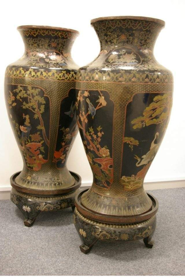 Lacquer Work Vases
