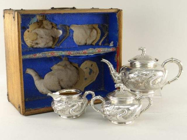 Chinese Silver Tea set