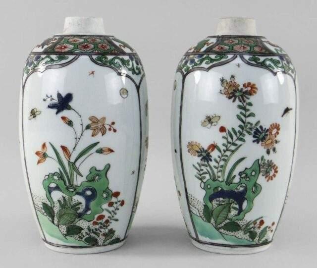 Famille Verte Porcelain Jars