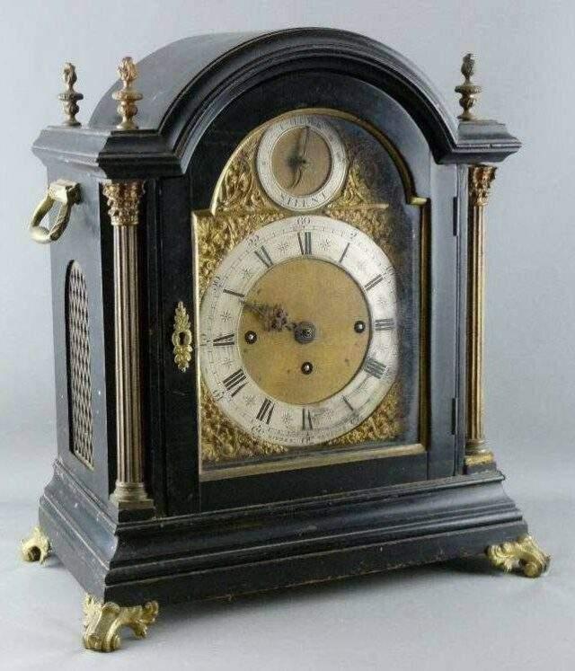 Ebony Mantel Clock