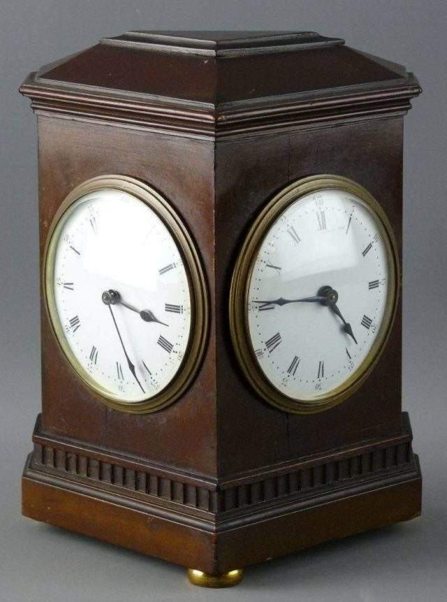 Two Dial Table Clock
