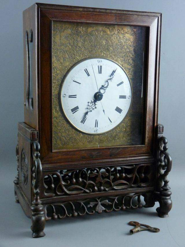 Chinese Fusee Table Clock