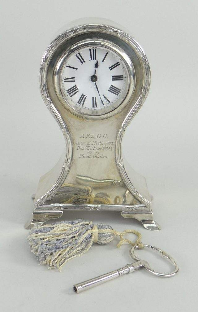 Edward VII Silver Clock