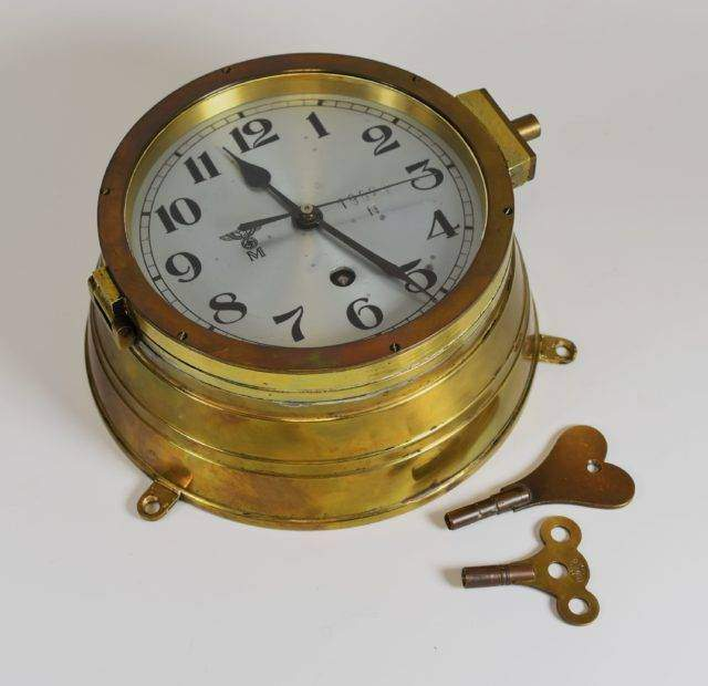 Kriegsmarine Bulkhead Clock