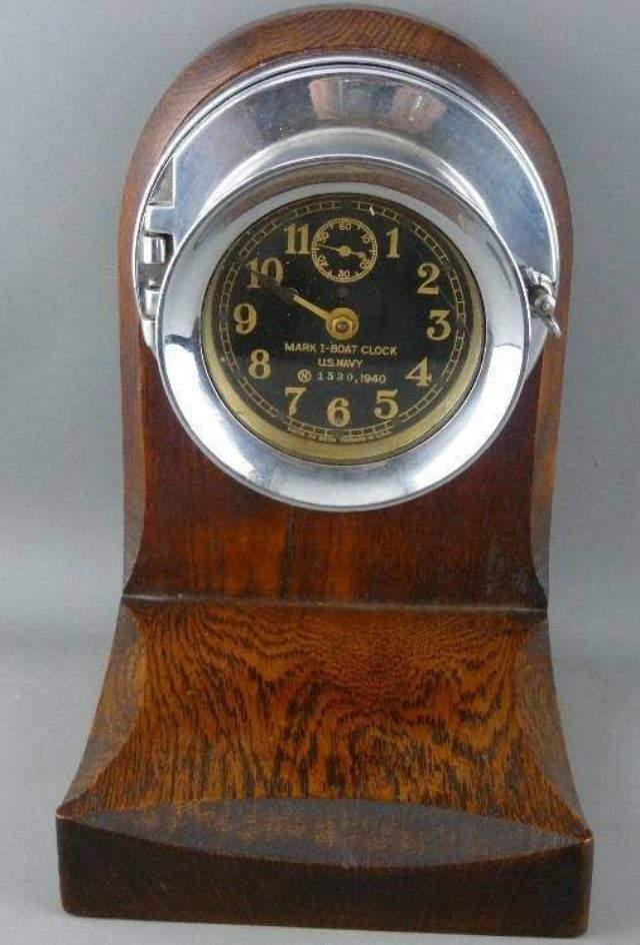 Us Navy Boat Clock by Seth Thomas