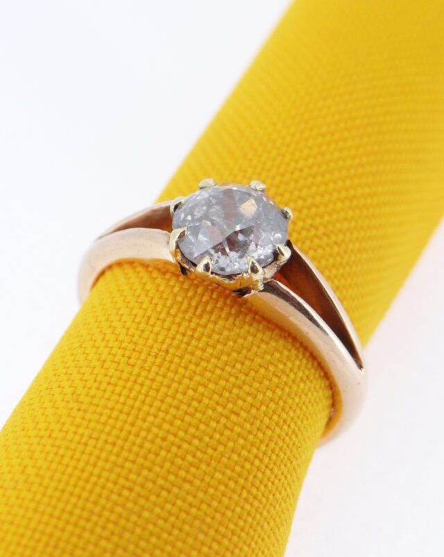 15 CT Gold Diamond Solitaire Ring