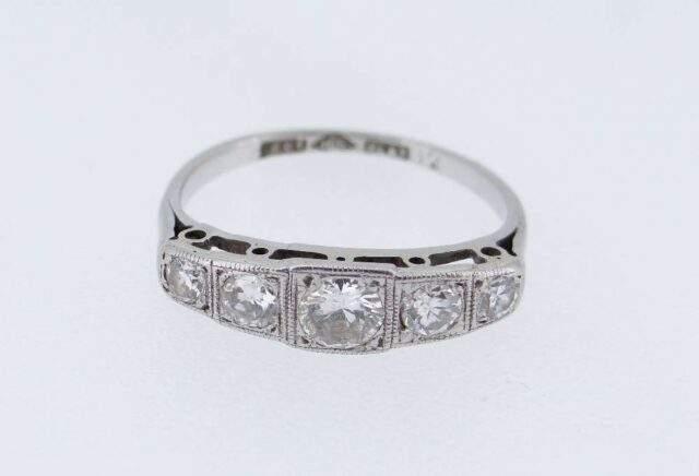 Art Deco Style Platinum Diamond Ring