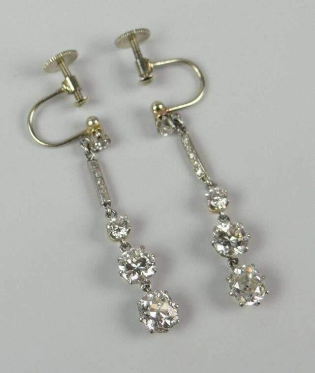 Diamond drop-earrings