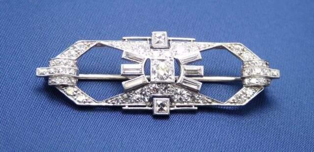 Diamond Platinum Brooch