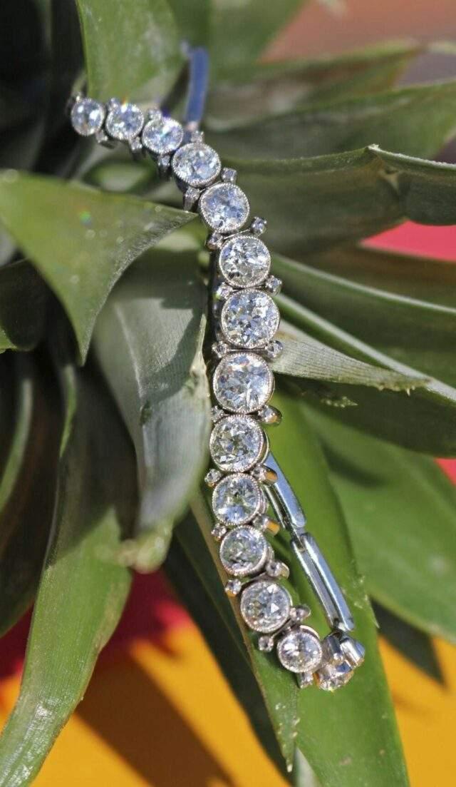 Fifteen Stone Diamond Bracelet
