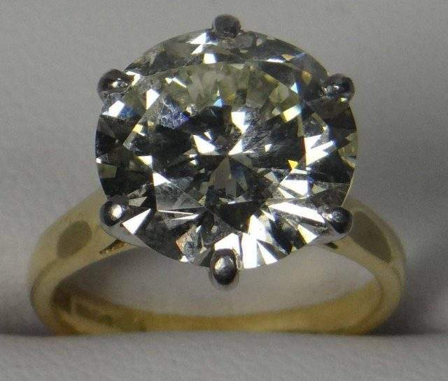 Large solitaire diamond ring