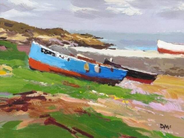 Donald McIntyre Acrylic Blue Boat