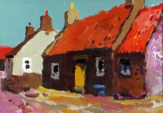 Donald McIntyre Acrylic Cottages Cullen No 6