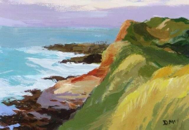 Donald McIntyre Acrylic Pembs Coast No 2