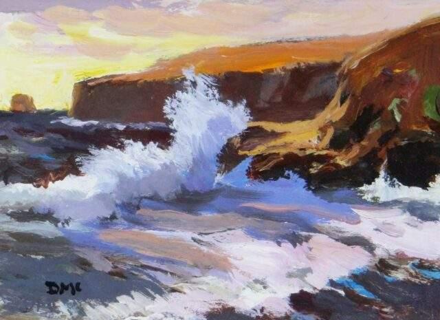 Donald McIntyre Acrylic Storm Headland