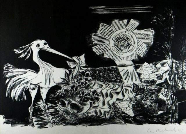 Ceri Richards Dylan Thomas Lithograph
