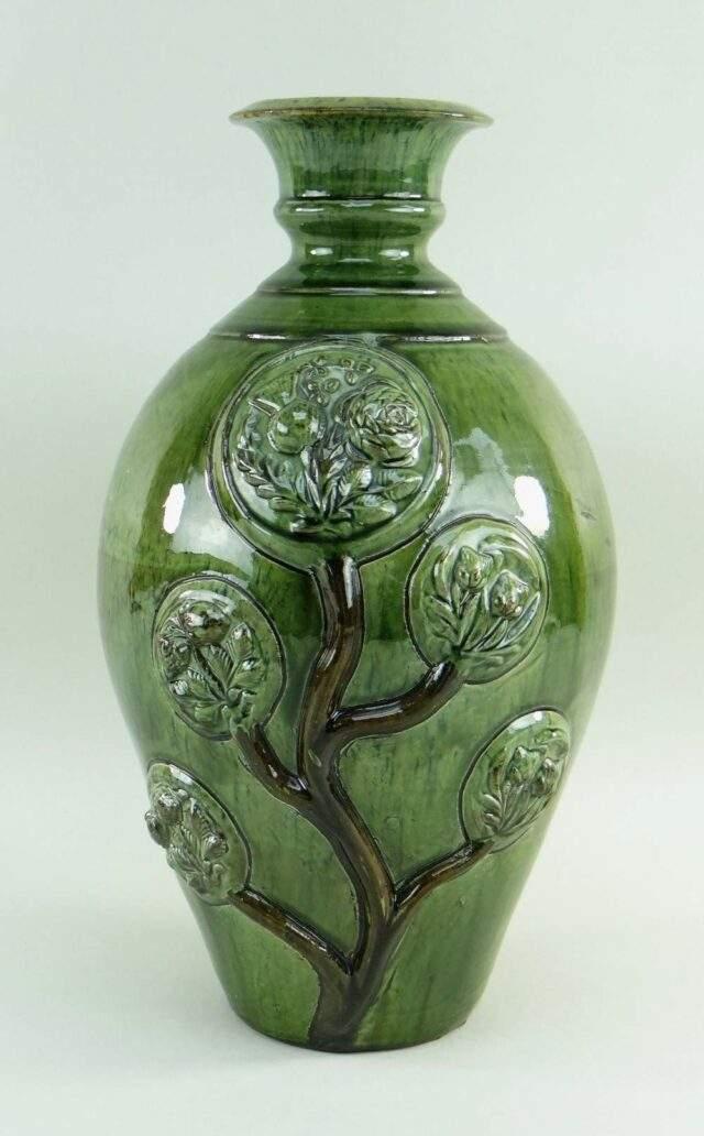 Ewenny Slipware Pottery Tree of Life Vase
