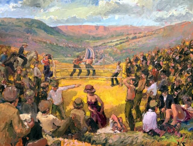 Kevin Sinnott Oil The Boxing Field