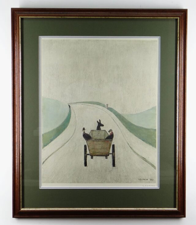 Laurence Stephen Lowry RA The Cart Signed Print