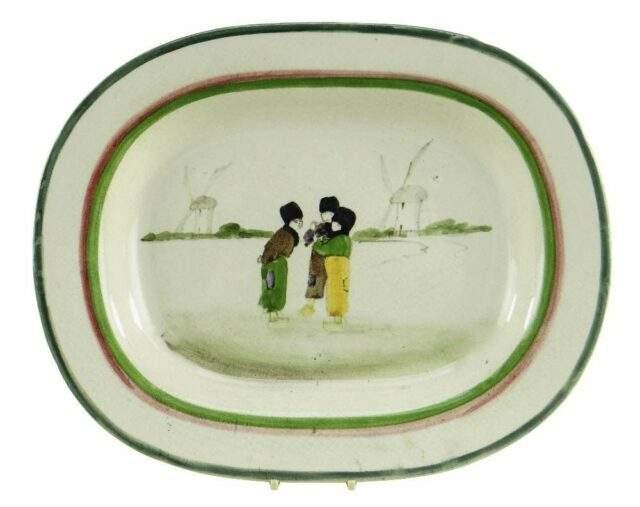 Llanelly Pottery Dutch Boys Platter