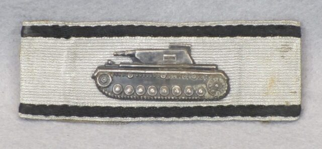 WWII Silver Tank Destruction Badge