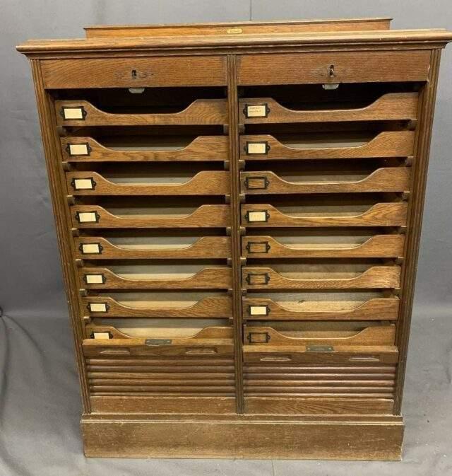 Oak Stationery Cabinet
