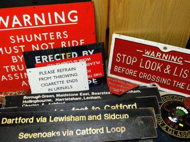 Assorted Railway Signage