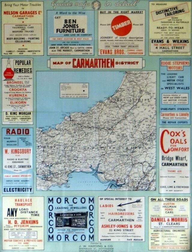 Carmarthen Motorists Map