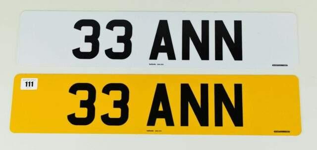 Cherished Registration Number 33 ANN