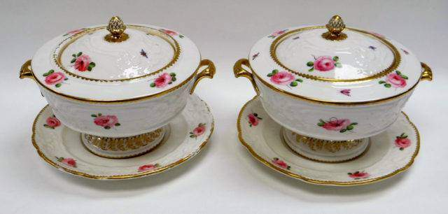 Pair of Nantgarw Tureens