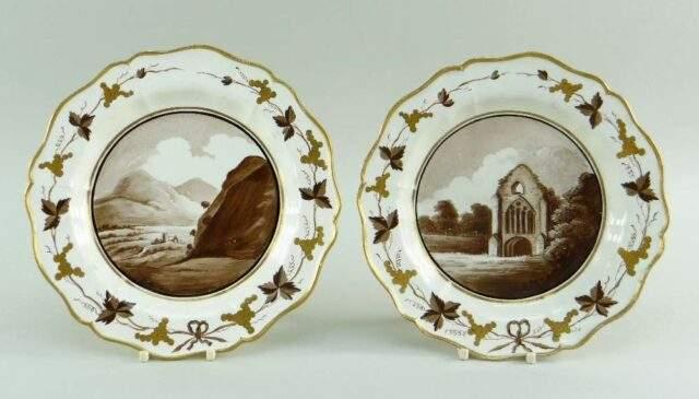 Pair of Swansea Creamware plates