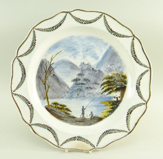 Swansea Pearlware Charger Dish