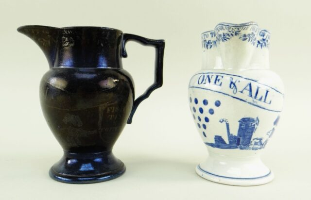 Swansea Pearlware Jug of Cornish Interest