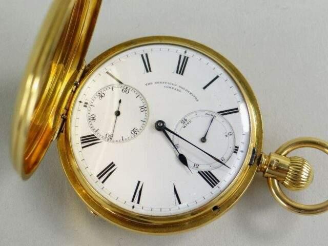 18 CT Gold Full Hunter Pocket Watch