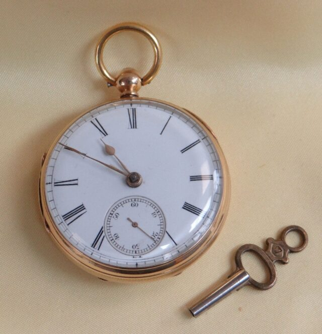 18 CT Gold Open Face Pocket Watch