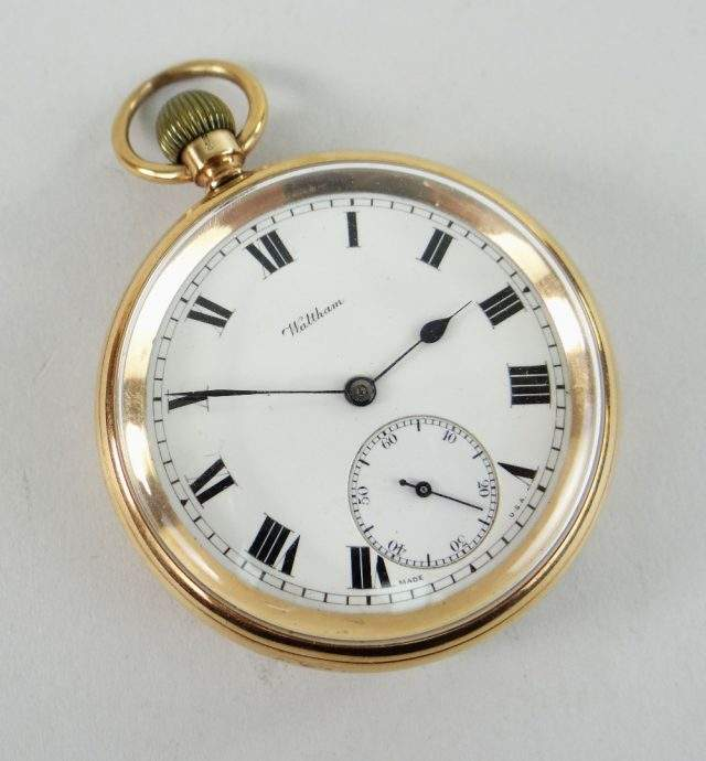9K Gold Pocket Watch