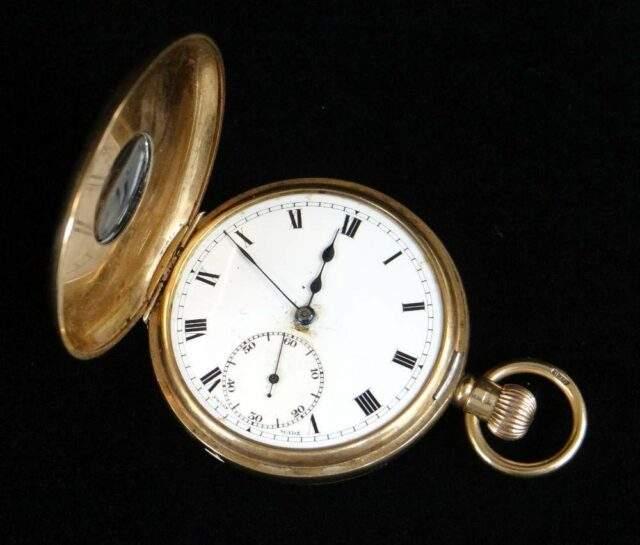 George V 9 CT Half Hunter Pocket Watch