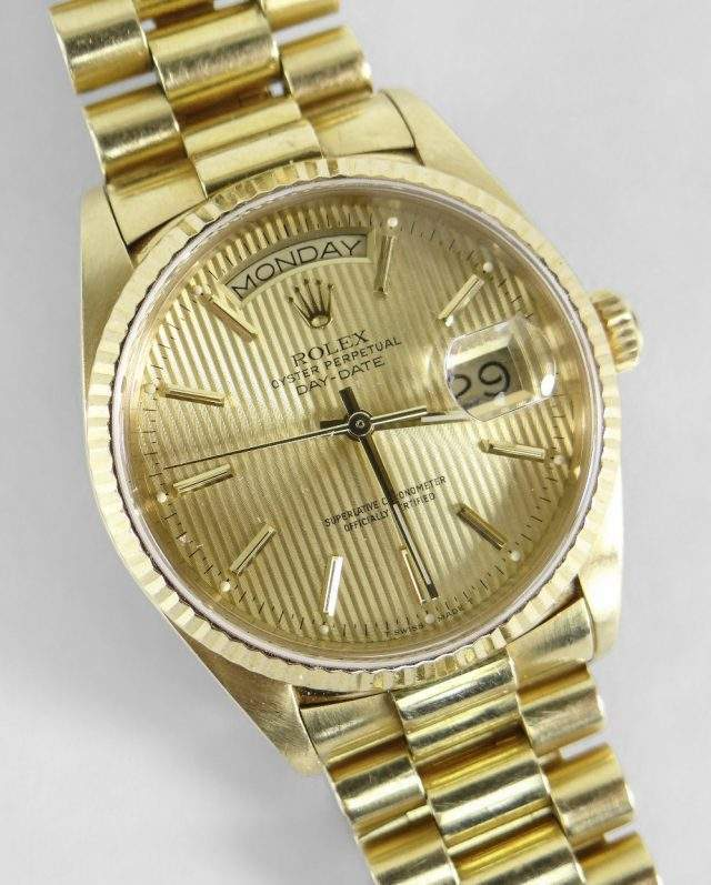 18K Gold Rolex Day-Date Wristwatch