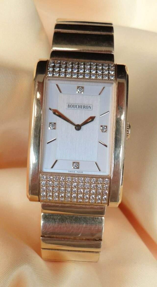 Boucheron 18 CT Gold Diamond Wristwatch