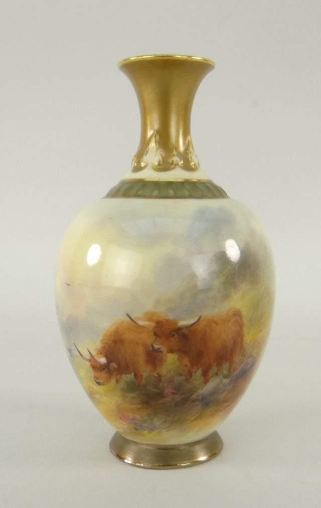 Royal Worcester Baluster Vase