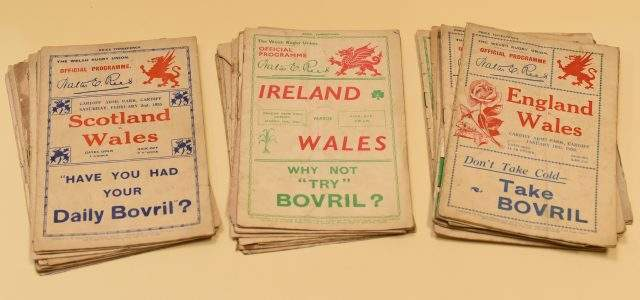 1920's & 1930's Rugby Union Programmes