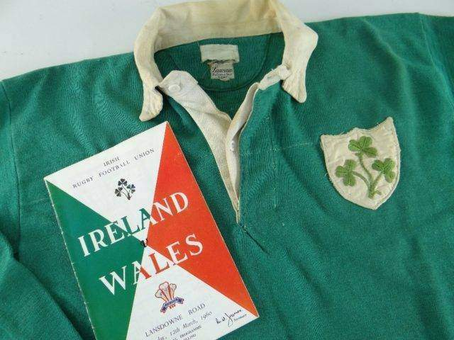 1960 IRELAND INTERNATIONAL RUGBY UNION JERSEY WORN BY THOMAS J KIERNAN b 1939
